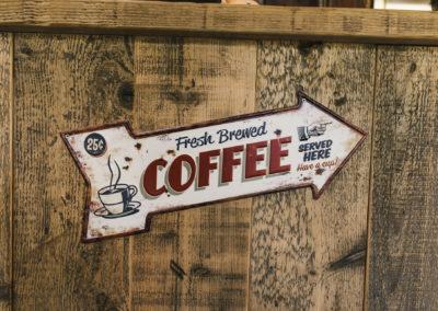 hier gibt es Kaffee!